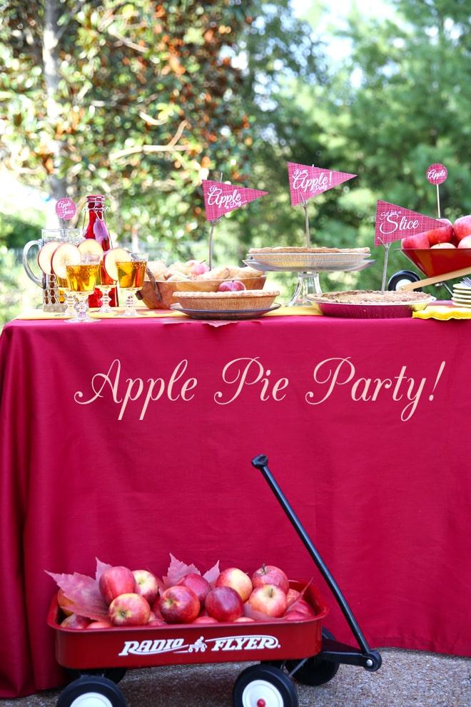 Host an Apple Themed Dessert Party!