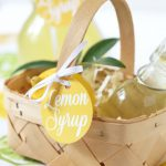 DIY Lemon Syrup Recipe | Free Printable Gift Tag Included!