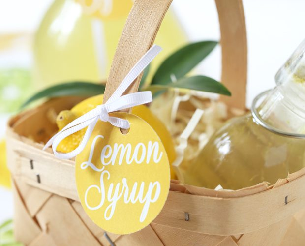 DIY Lemon Syrup + Free Printable Gift Tags