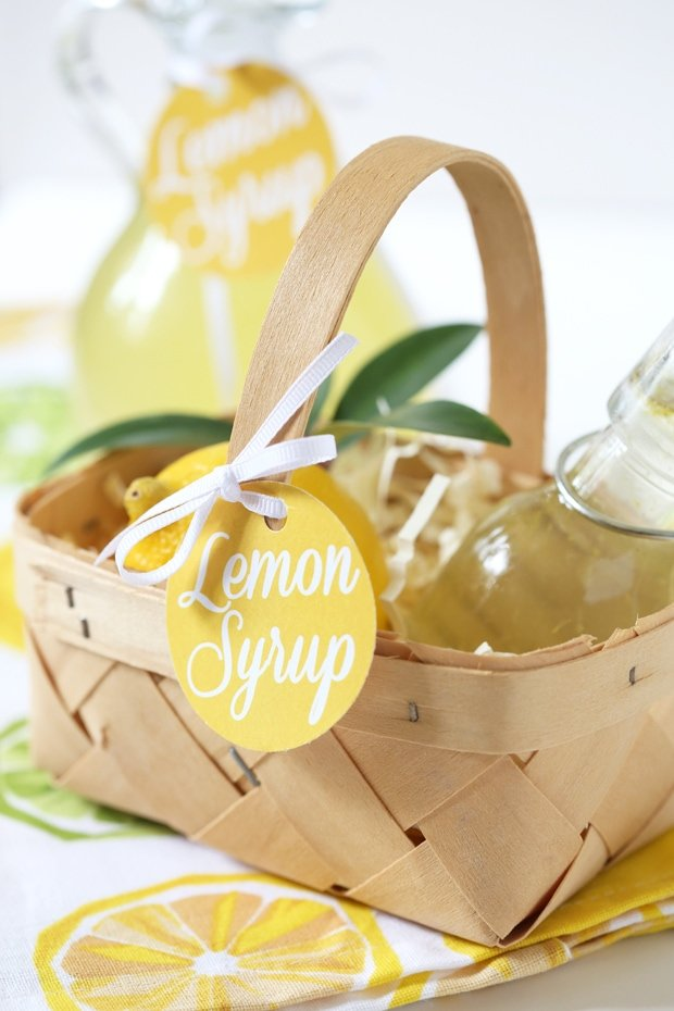 graphic about Diy Gift Tags Free Printable referred to as Do-it-yourself Lemon Syrup + Absolutely free Printable Present Tags Pizzazzerie