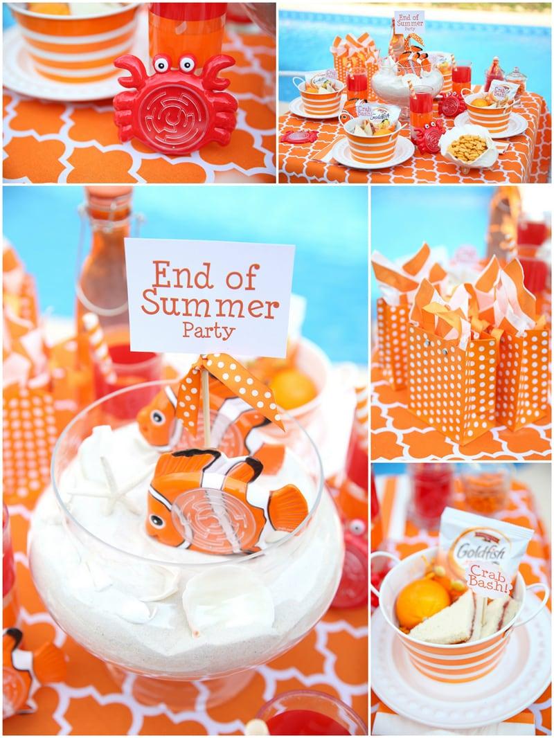 Orange and White Kids' Crab Bash Party