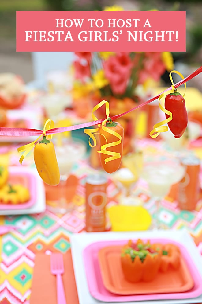 Simple steps + cute DIYs for hosting a fabulously chic Fiesta Girl's night!