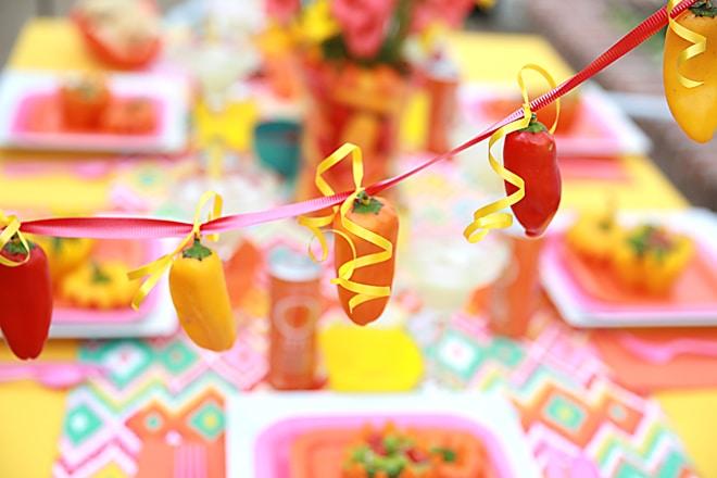 How to make a mini pepper garland! Pizzazzerie.com