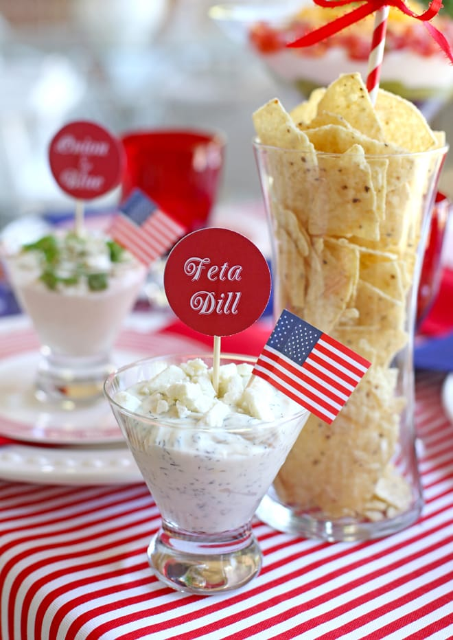 feta and dill dip for labor day! #TostitosLaborDay