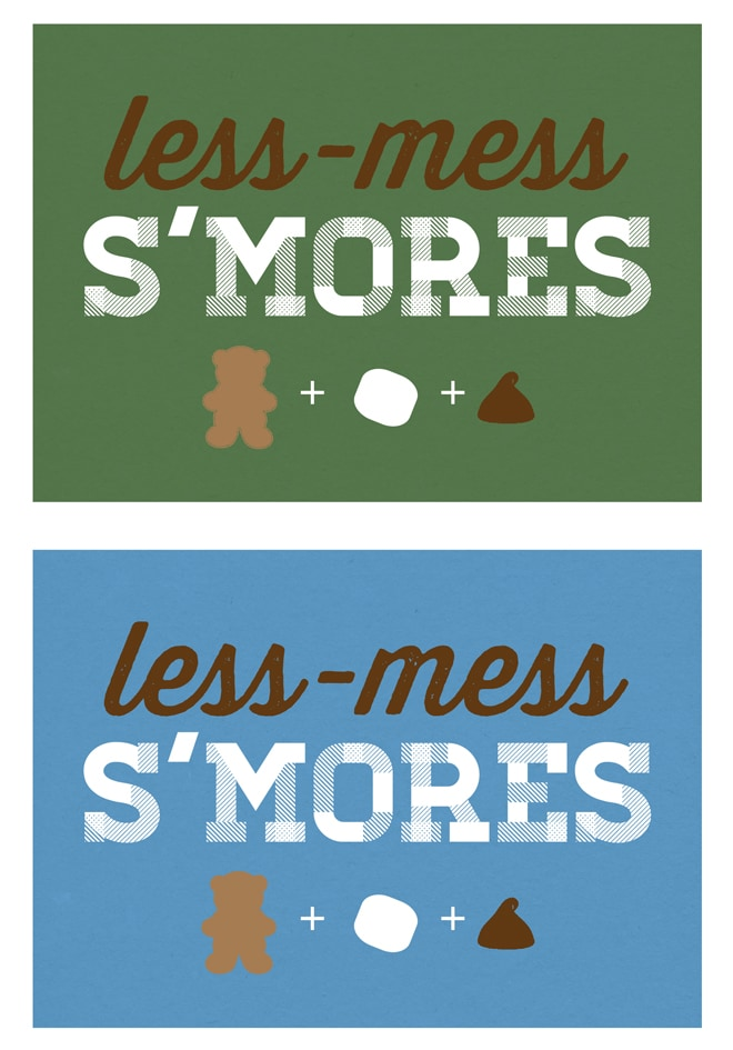 Less Mess Smores
