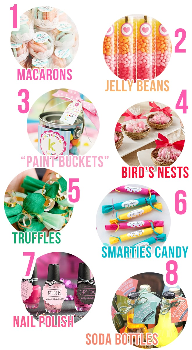 8 Simple and Cute Party Favor Ideas!