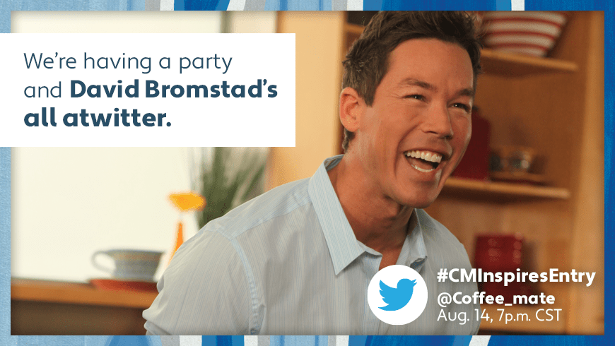 Twitter Party with HGTV's David Bromsted + Coffee-Mate!