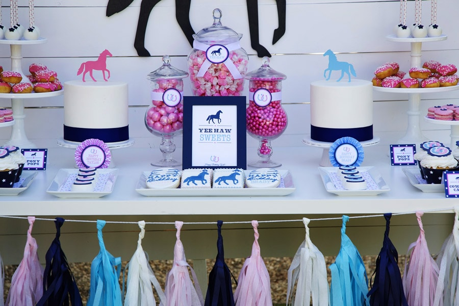Cute preppy pony party pictures and inspiration!