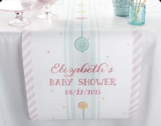 baby shower table runner