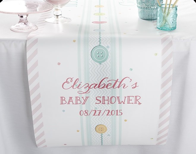 baby shower table runner