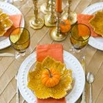 Fall Pumpkin Tablescape by Party Blogger Pizzazzerie.com