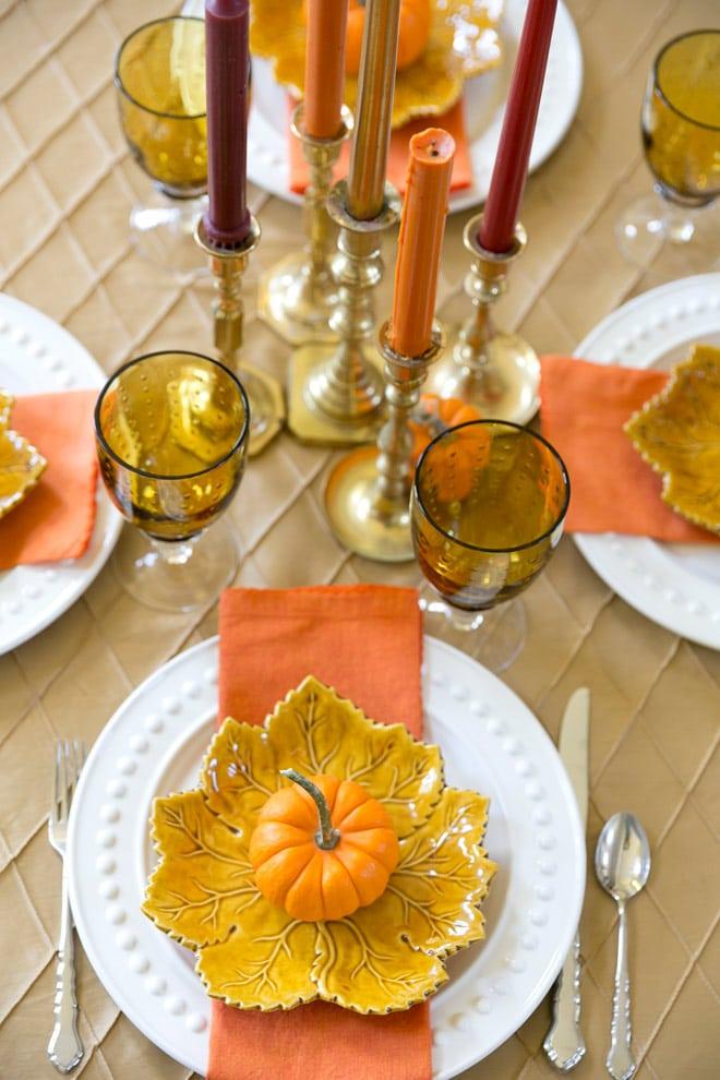 Fall Pumpkin Dinner Party Tablescape