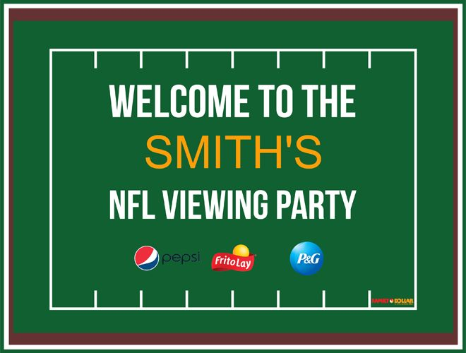 Game Day Viewing Party {Free Printable}