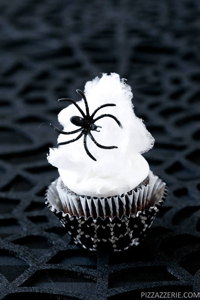 How to make spider web cupcakes