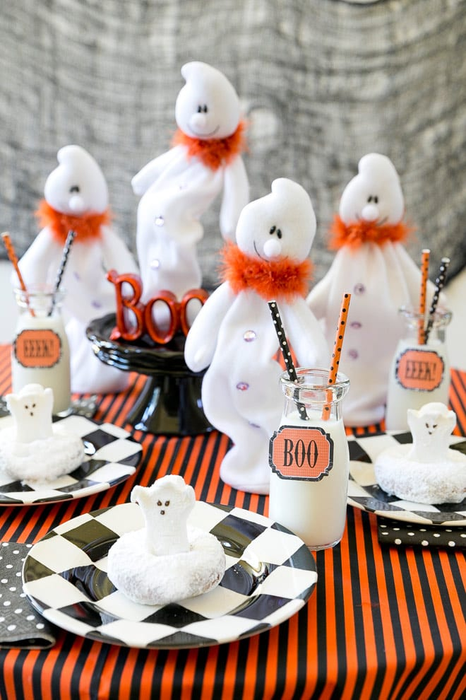 Host a Boo Breakfast Ghost Party this Halloween for the Kids! Pizzazzerie.com