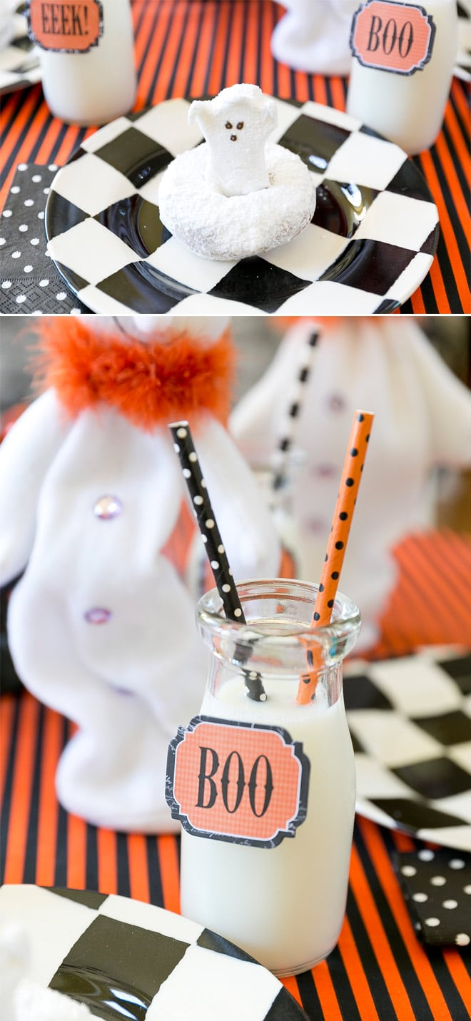 Host a ghost themed breakfast party! Pizzazzerie.com