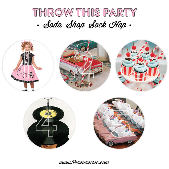 Soda Shop Sock Hop Party Ideas and Inspiration With a Free Invitation Download