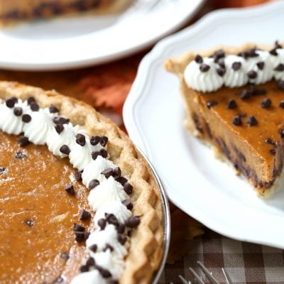Yummy Chocolate Chip Pumpkin Pie Recipe! Pizzazzerie.com