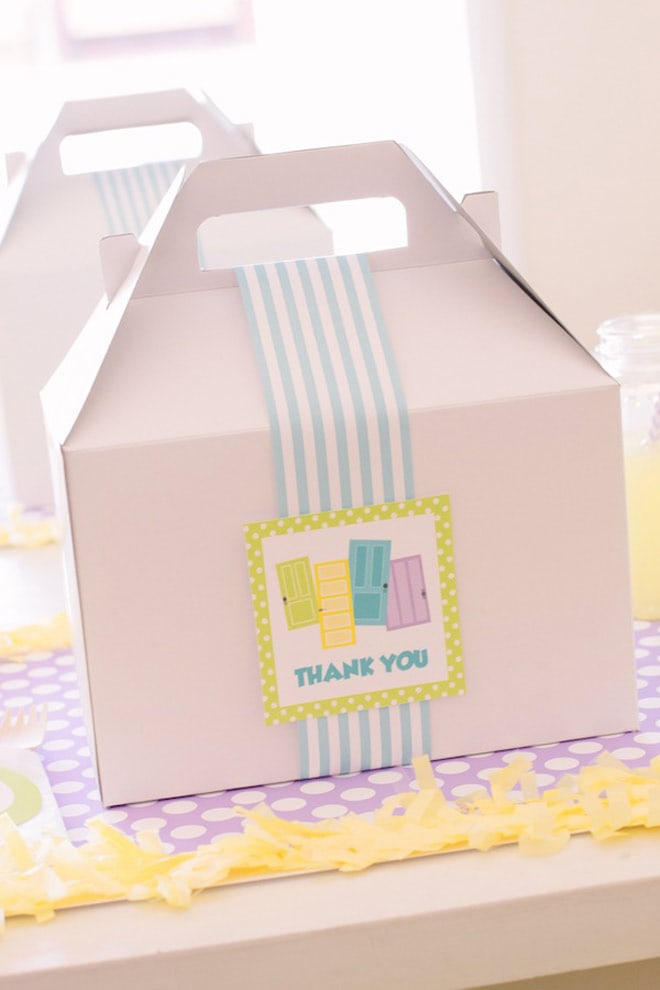 white party favor gable boxes