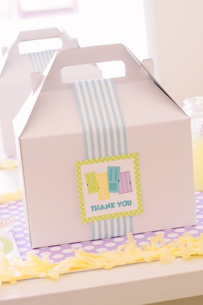 white party favor gable boxes