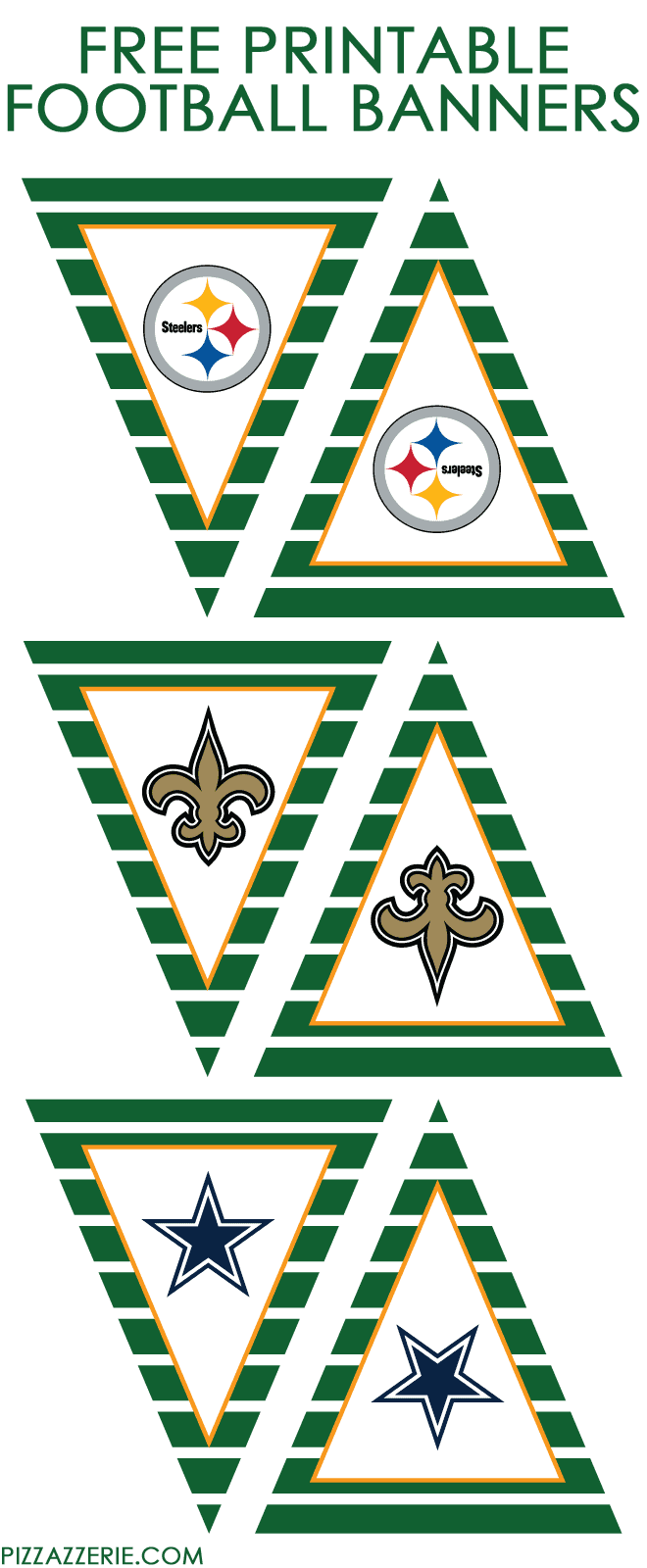 ALL NFL TEAMS | Free Printable Banners from Pizzazzerie.com