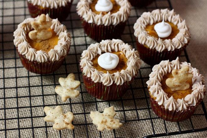 How to make pumpkin pie cupcakes