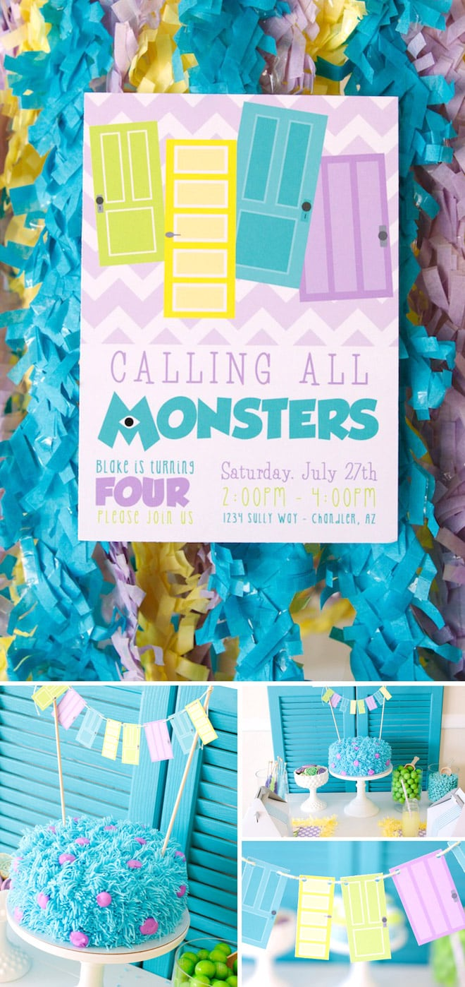 How to throw a Monsters party! Super cute and super stylish!