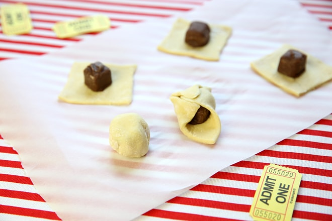 Learn how to make oven fried candy bar bites!