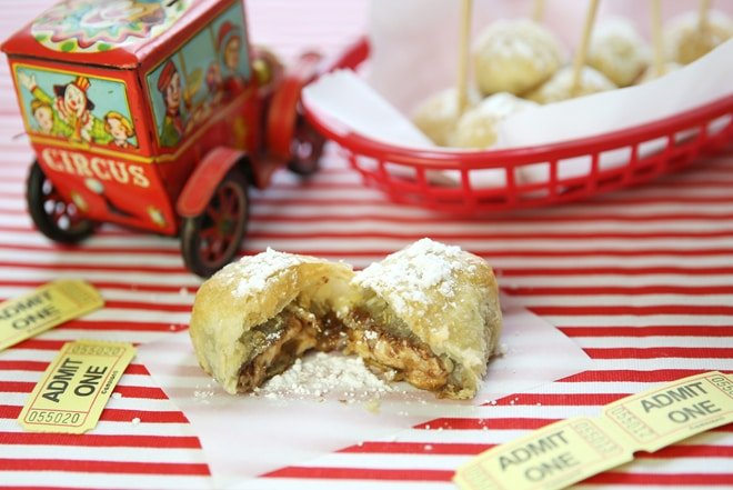 Oven Fried Candy Bar Bites!