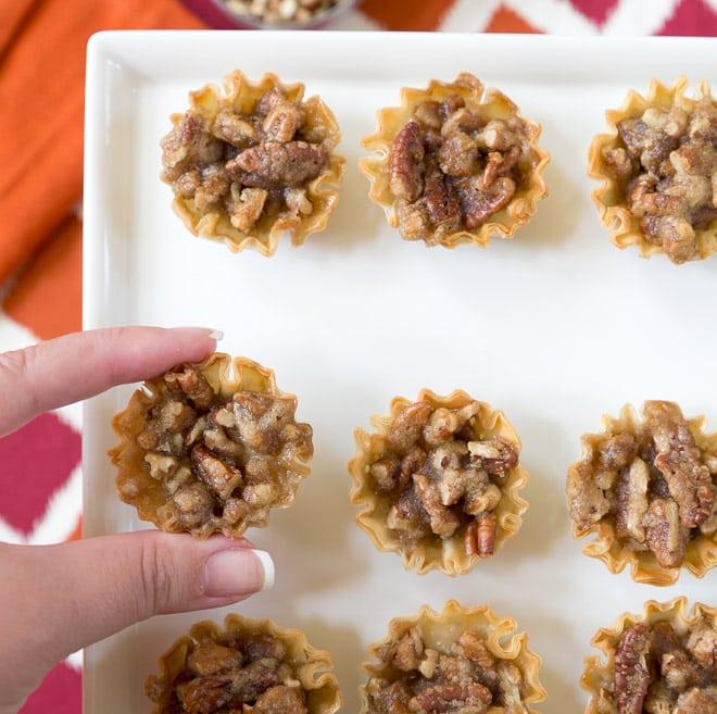 Pecan Pie Brie Bites