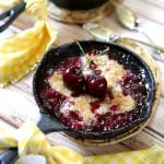 Make cherry cobbler in a CAST IRON pan! So delish and easy! Pizzazzerie.com