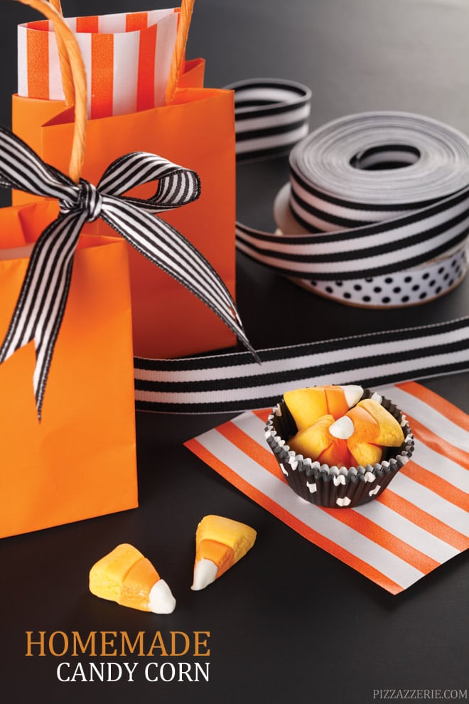 Homemade EASY Candy Corn Recipe! Fun for kids this Halloween!  Pizzazzerie.com