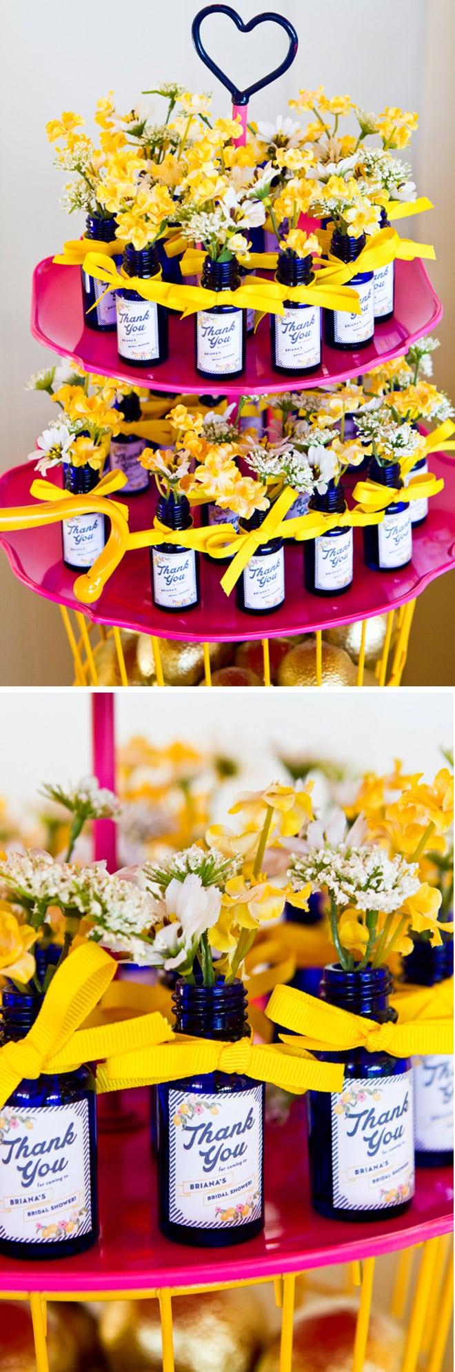 Cute Preppy Lemon Bridal Shower Favors! Pizzazzerie.com