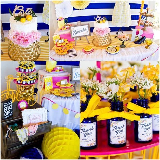 Adorable Preppy Lemon Bridal Shower! Lots of cute ideas!