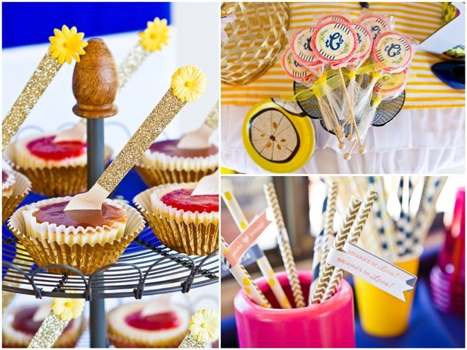 adorable preppy lemon bridal shower party