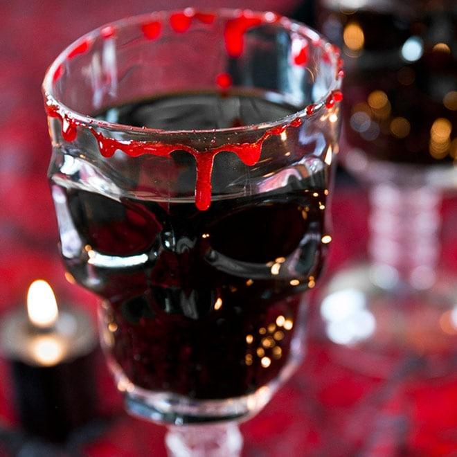 Spooky Skull Halloween Cocktail