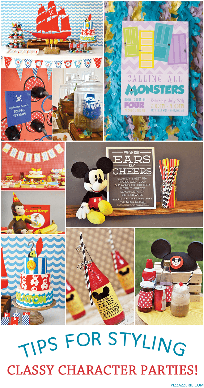 Tips on styling fabulous character parties!