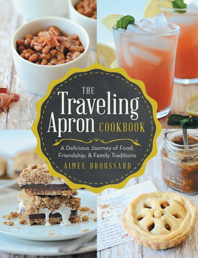 Cutest book gift! The traveling apron cookbook! By Aimee Broussard