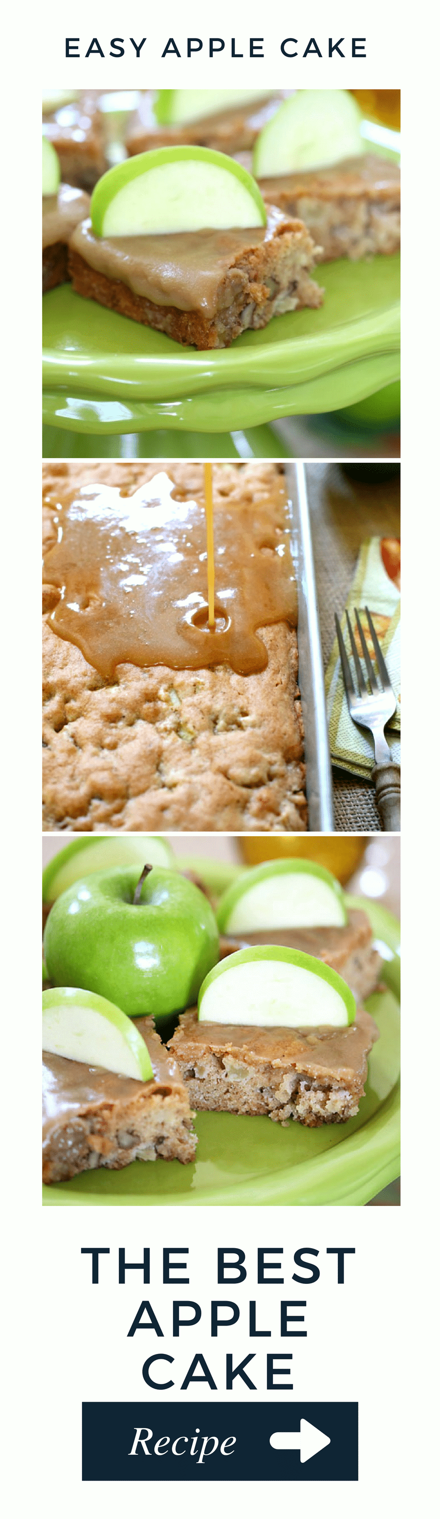 Delicious and easy apple cake! Perfect fall recipe!