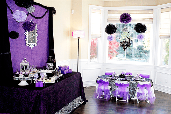 Fa Quot Boo Quot Lous Purple Halloween Birthday Party Pizzazzerie