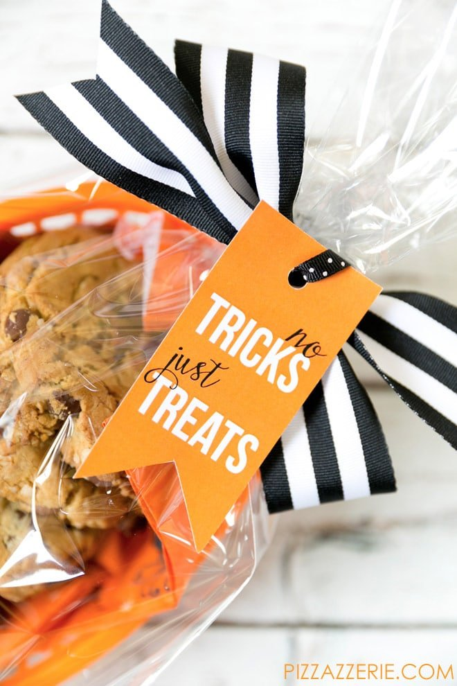 Free halloween treat tag free printable for halloween no tricks just treats free printable halloween gift tag negle Choice Image