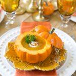 Pumpkin Bisque in a Pumpkin Shell | Pizzazzerie.com