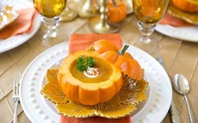 Pumpkin Bisque in a Pumpkin Shell