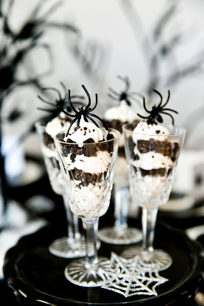 Chic Black & White Spider Dinner Party for Halloween! | Pizzazzerie.com