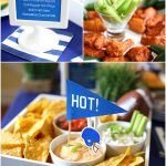 """We're on FIRE"" & ""We're HOT"" themed Football Viewing Party! Tons of spicy football food + fun! Pizzazzerie.com"