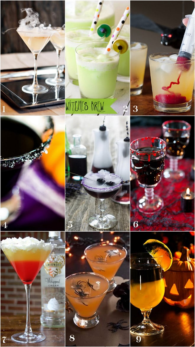 Awesome collection of spooky Halloween cocktails!