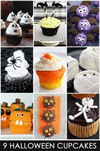 9 Cute and Easy Halloween Cupcake Ideas just in time for Halloween!