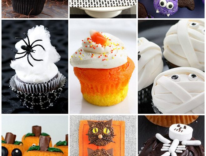 9 Easy & Cute Halloween Cupcakes