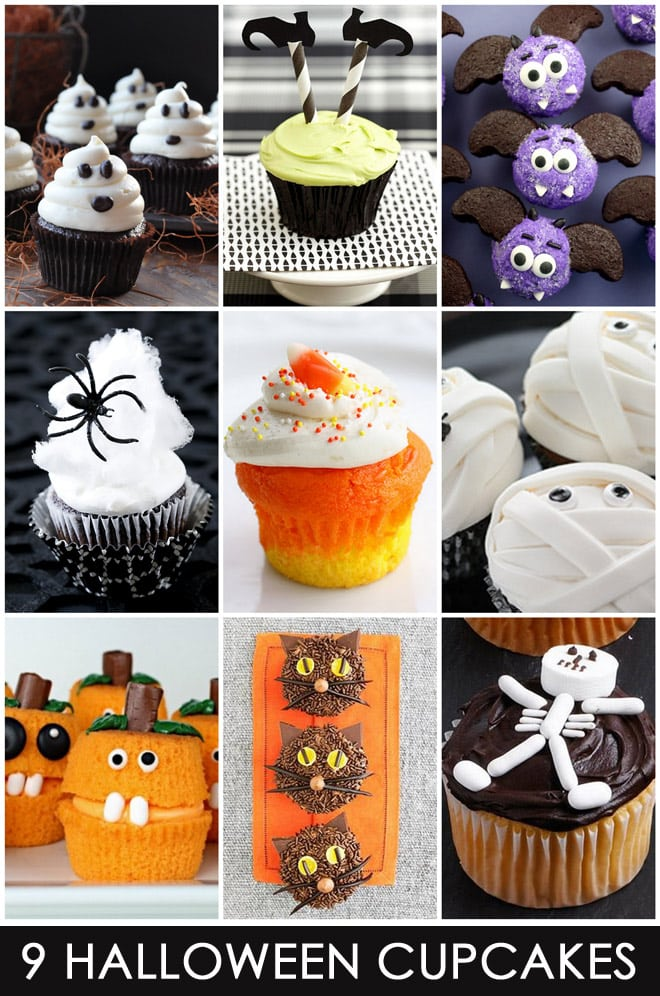 Halloween Cupcake Decorating Ideas Easy : 9 Easy & Cute Halloween Cupcakes Pizzazzerie