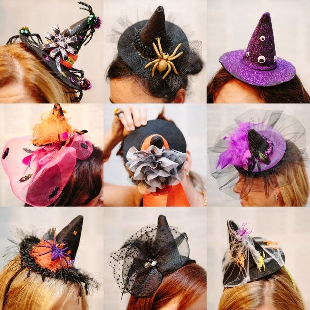 DIY Witch Fascinator Hats  61616b3e185